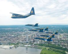 Blue Angels over Milwaukee's lakefront...