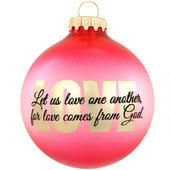 Let Us Love One Another Glass Ornament