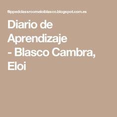 Diario de Aprendizaje -Blasco Cambra, Eloi