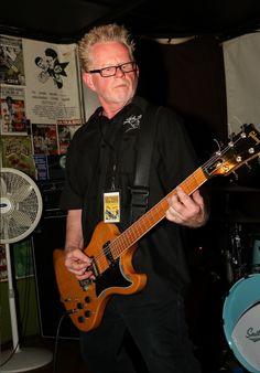 Cinecyde guitarist, Jim Olenski playing a Gibson RD guitar. August 6, 2016 at the Detroit All-Star Garage Rock Punk Revue held at PJ's Lager House, Detroit, Michigan. #cinecyde #detroitallstargaragerockpunkrevue #detroitpunk #punk #gibsonrd