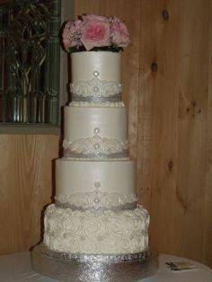 Glam Sparkle dusted  wedding cake
