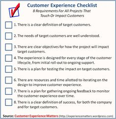 A very useful Customer Experience Management Checklist #CEM #CRM