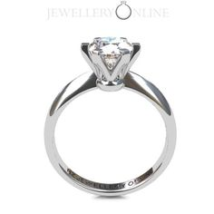 The classic diamond engagement ring. A timeless six clawed beauty. 1ct version shown.  #diamond ring #engagement ring #wedding ring see our website for diamond options www.nzjewelleryonline.com