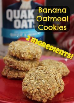 CHECK THIS OUT!! Super easy Banana Oatmeal Cookies recipe with ONLY 2 INGREDIENTS!! It doesn't get easier than that! CHECK IT OUT!
