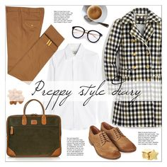 """""""Pretty Preppy"""" by ms-mandarinka ❤ liked on Polyvore featuring Marni, Diverso, J.Crew, Bric's and Barbour"""