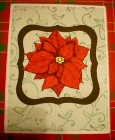Poinsettia stamp from Stacy Stamps.