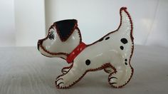 1960s vintage 101 Dalmatians toy  a very rare collectors item  it is marked Walt-Disney prod. / poupée skine  made of leather looking plastic  this lovely tiny dog is in very good condition for it s age, some tiny imperfections, see pictures  its lenght is 9.5 cm / 3.8 for other dutch details, here s the link to my shop: https://www.etsy.com/nl/shop/dutchdetails   SHIPPING I ship worldwide from the Netherlands with tracking number & insurance and of cour...