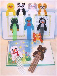 Plastic Canvas - Bookmark Patterns - Hug-a-Buddy Bookmarks