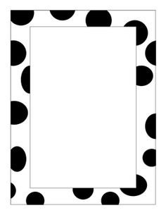 Cute paper to use with a dalmation or spot/polka dot theme. Easy to copy with lines for publishing student writing or add stickers for journal, po...