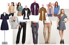 Great ideas for types of clothing to buy for teachers and where!