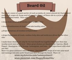 Oil using essential oils Essential Oils Essential oils beard oil recipe - Beard Essential Oil For Men, Oils For Men, Doterra Essential Oils, Young Living Essential Oils, Essential Oil Blends, Doterra Blends, Diy Beard Oil, Beard Oil And Balm, Beard Balm