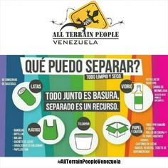 Todo junto es basura, separado son recursos #recicla #AllTerrainPeopleVenezuela  #venezuelatequiero #life #love #kayak #skate #rutas #extremo #parapente #quehaceshoyporvenezuela #diquevalencia #paraísoterrenal #wandere #naturaleza #allterrainpeople #gopro #canaima #lucha #paisajes #igersvenezuela #sosvenezuela #trekking #venezuelasomostodos #justicia #prayforvenezuela #noalmaltratoanimal #adelantevenezuela