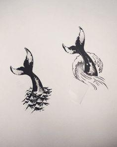 geometric tattoos Half Aquarians half Pisces More