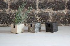 Japanese Ceramic Bud Vases | Cube