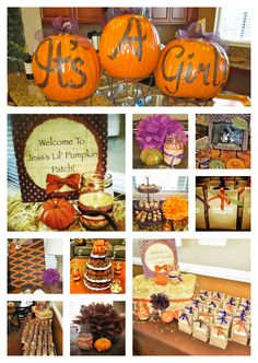 Great set up for a fall baby shower!! Baby shower theme, gender reveal, baby shower
