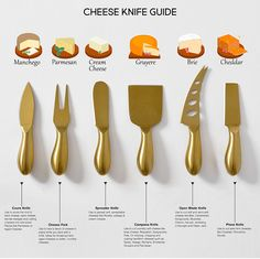 Cheese knife guide for the perfect platter. Wine And Cheese Party, Wine Cheese, Fancy Cheese, Queso Cheese, Food Platters, Cheese Platters, Party Platters, Simple Cheese Platter, Rustic Platters