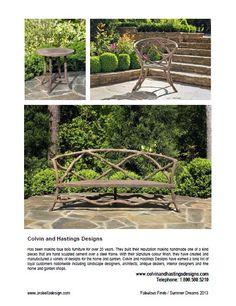 #colvinandhastingsdesigns #faux_bois_furniture  #bench #gardens #chair #chairs #furniture #faux _bois_furniture #tables #furniture #concretefurniture #fauxbois_a #twig_furniture #fauxbois_A1A