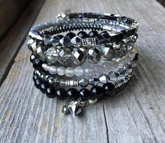 Classic Nights Multi Strand Memory Wire Bracelet With Matching