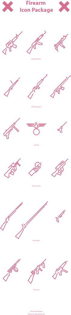 Icon set - Firearms vol2 on Behance