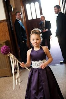 Flower girl with pomander wand!