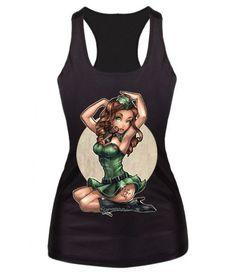 Punk Goth Rock Mermaid Tank Top Shirts Lock and Load Hot Girl Shirt