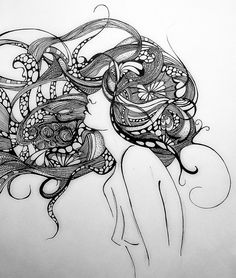 Its been a while since I drew something. so here is my mindblowing like my firnd said Medusa done in graphic pen