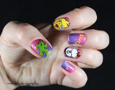 Nail art Final Fantasy – Colors by llarowe - fantasy nail Final Fantasy, Nail Inspo, Christmas Crafts, Nail Art, Stickers, Colors, Nails, Unicorn, Pink