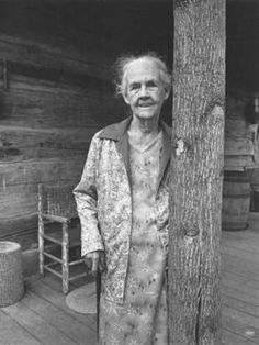 Elderly Woman with Cane
