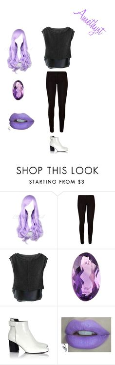 """""""Amethyst"""" by albaoreo on Polyvore featuring J APOSTROPHE, Loquet and Proenza Schouler"""