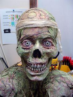 3-axis skull face