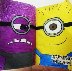 This was really cute!!! I love the minions And I thought that it was clever how somebody added them into their wreck this journal like this!