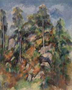 Paul Cézanne - Rocks and Trees (Rochers et arbres)
