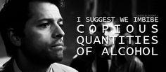 Castiel: Copious Quantities of Alcohol (Supernatural) - Reaction GIFs