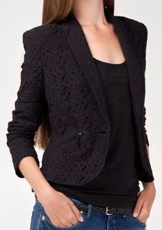 black lace blazer. Omg love