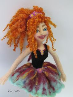 needle felt doll. handmade.  Pretty Ballerina