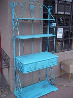 Metal Bakers Rack Makeover Furniture The Rich And Metals