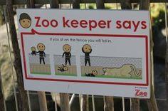 Brilliant signage at Wellington Zoo