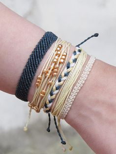 Braided leather bracelets purl soho craft pinterest braided handmade full bracelet stack each bracelet is hand woven and takes hours to create fandeluxe Choice Image