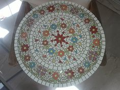 flower mosaic table top