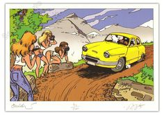Panhard in comics Car Illustration, Illustrations, Garages, Car Makes, Ex Libris, Cars Motorcycles, Race Cars, Cool Cars, Classic Cars