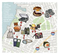 Your holiday map of the best shops and eats in Williamsburg. #Brooklyn