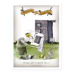 love yorkshire 'ey up jobs a good 'un' postcard - love cards couple card ideas diy cyo