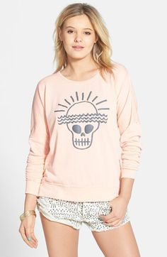 Volcom 'Dweller' Graphic Burnout Fleece Pullover available at #Nordstrom