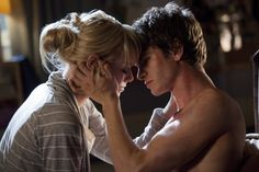 """Andrew Garfield and Emma Stone as Peter Parker and Gwen Stacy in """"The Azaming Spider-Man"""" (2012)"""