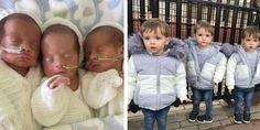 Identical triplets:  Young mother from England gives birth to rare identical triplets Feeling Unimportant, Multiple Births, Feeling Nauseous, Identical Twins, Triplets, First Baby, Go Fund Me, Beautiful Family, Baby Names