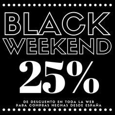 Ojo!!!!  Desde mañana viernes a las 00.00 hasta el lunes a las 23.59 tenemos el Black Weekend en la tienda toooooodos los productos con un 25% de descuento la locura!!  #Camisetas #BlackFriday #CyberMonday #BlackWeekend Válido para compras desde España