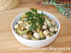 Absolut Delicios: SALATA DE FASOLE BOABE CU DOVLECEI Black Eyed Peas, Potato Salad, Healthy Lifestyle, Potatoes, Ethnic Recipes, Food, Salads, Potato, Meals