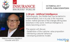 Kleptika will be speaking at the Insurance Broker's Forum Thierry Petrens, CEO will speak about Artificial Intelligence, Monitoring customer behaviour, Hd Group, Customer Behaviour, Insurance Broker, Dubai Uae, How To Become, Web Design, Join, Writing, Website