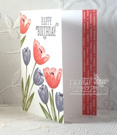 2017  Debbie's Designs: Tranquil Tulips Open House Card!    Tranquil Tulips Photopolymer Stamp Set - 143767  Price: $10.00
