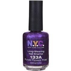 NYC New York Color Long-Wearing Nail Enamel, 133A Purple Pizzazz Frost, 0.45 fl oz